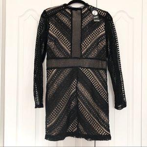 SALE MUST GO Boohoo Lace Crochet Long Sleeve Dress